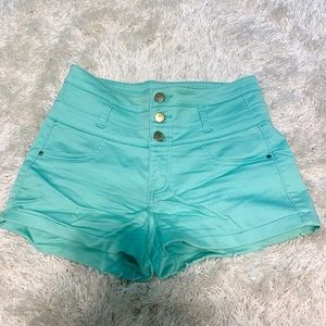 Mint Colored High Waisted Shorts